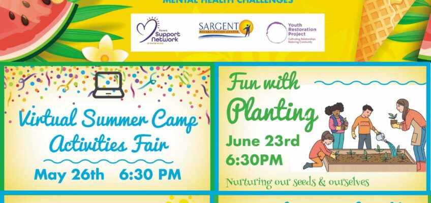 Spring Into Summer Family Support Circles Flyer
